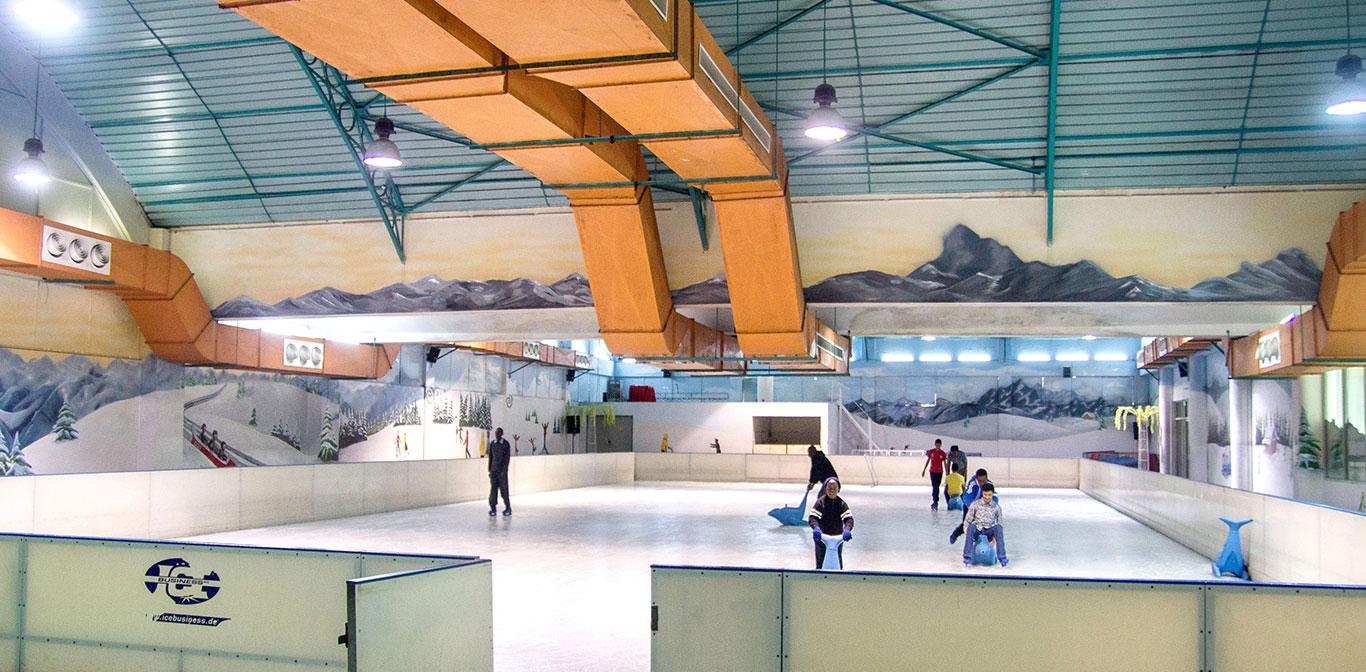 Ice skating in Nairobi.